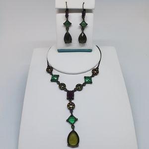 Avon Steampunk Necklace & Earrings Set